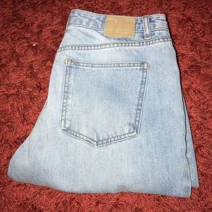 ripped mom style jeans